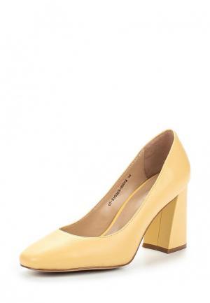 Туфли Mascotte. Цвет: желтый