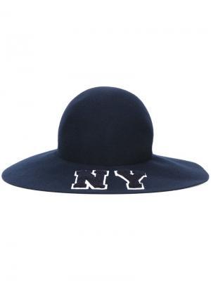 Шляпа NY Joshua Sanders. Цвет: синий