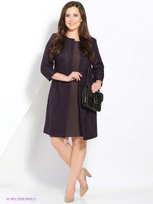 Комплект одежды Amelia Lux. Цвет: темно-фиолетовый, коричневый