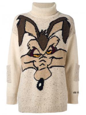 Wile E. Coyote Sweater Jc De Castelbajac Vintage. Цвет: телесный