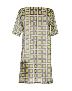 Короткое платье BINI COMO. Цвет: кислотно-зеленый
