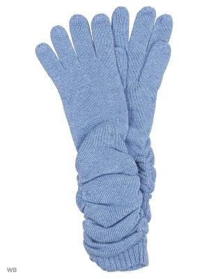 Перчатки Pur. Цвет: голубой