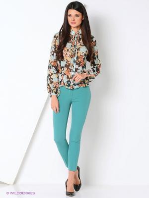 Блуза ADZHEDO. Цвет: черный, морская волна