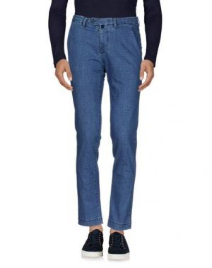 Джинсовые брюки B SETTECENTO. Цвет: синий