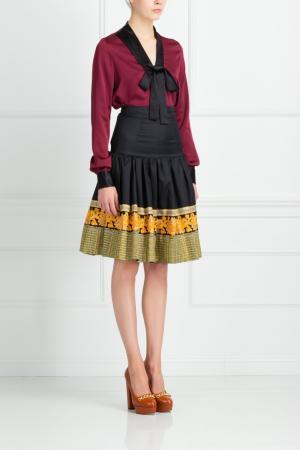 Хлопковая юбка Suno. Цвет: multicolor