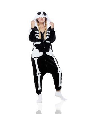 Пижама Скелет Nothing but Love. Цвет: черный, белый