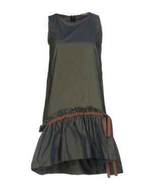 Короткое платье DV Roma. Цвет: свинцово-серый