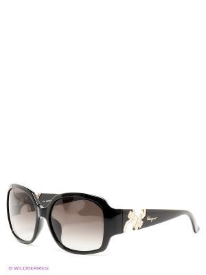 Солнцезащитные очки Salvatore Ferragamo. Цвет: черный