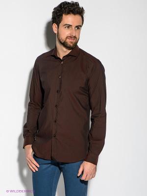 Рубашка Havana & Co. Цвет: бордовый