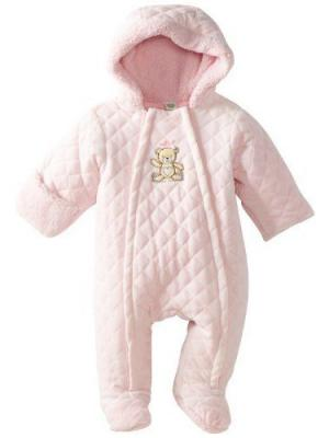 Комбинезон утепленный Медвежонок Little Me. Цвет: розовый