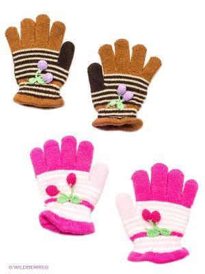 Перчатки, 2 пары FOMAS. Цвет: коричневый, розовый, бежевый