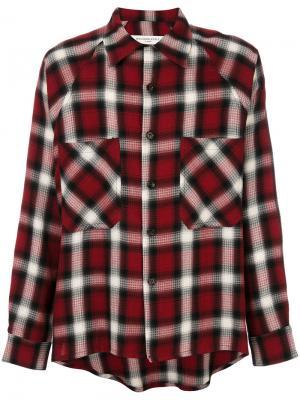 Рубашка в клетку Mr. Completely. Цвет: красный