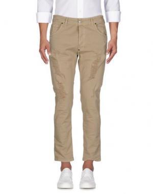 Джинсовые брюки IMB I'M BRIAN. Цвет: бежевый