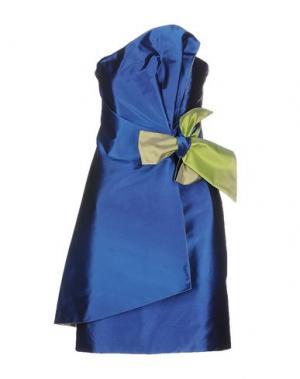 Короткое платье X'S MILANO. Цвет: синий