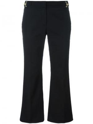 Укороченные брюки клеш Michael Kors. Цвет: чёрный