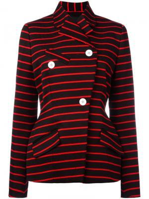 Полосатый пиджак с запахом Proenza Schouler. Цвет: чёрный