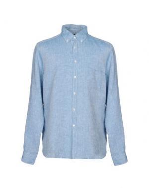 Джинсовая рубашка TOMBOLINI. Цвет: синий