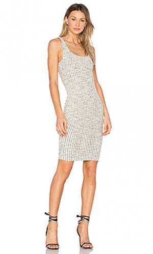 Платье с бахромой ottoman twenty. Цвет: белый