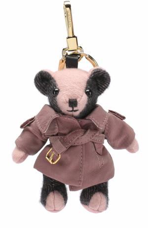 Брелок Thomas Bear в тренче Burberry. Цвет: розовый