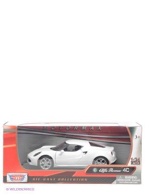 Машинка коллекционная  Alfa Romeo 4C Motormax. Цвет: белый