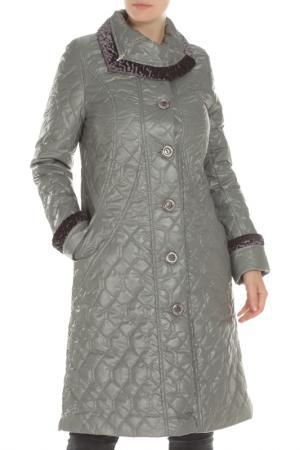 Пальто Дамская фантазия. Цвет: серый