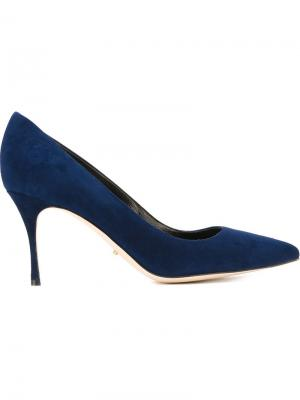 Классические туфли Sergio Rossi. Цвет: синий