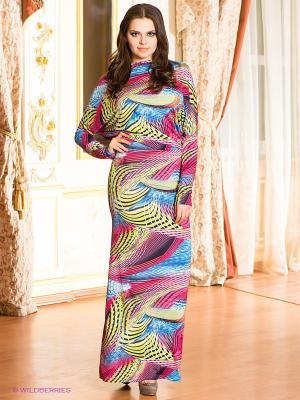 Платье МадаМ Т. Цвет: синий, розовый, желтый, оранжевый