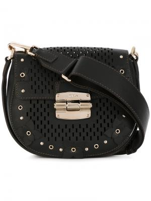 Декорированная сумка через плечо SAC Club S Furla. Цвет: коричневый