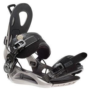Крепления для сноуборда  Gateway Bind Grey GNU. Цвет: черный,серый