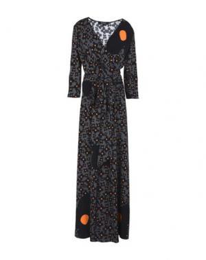 Длинное платье POUSTOVIT. Цвет: серый