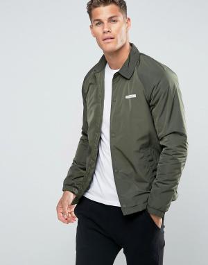 Hollister Спортивная куртка оливкового цвета. Цвет: зеленый