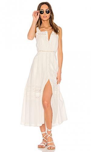 Платье eve LoveShackFancy. Цвет: белый