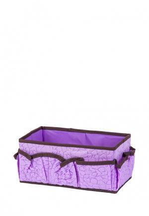 Система хранения для косметики El Casa. Цвет: фиолетовый