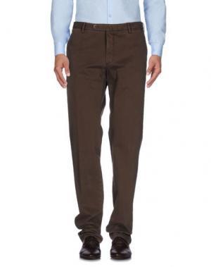 Повседневные брюки G.T.A. MANIFATTURA PANTALONI. Цвет: темно-коричневый