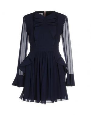 Короткое платье DANIELE CARLOTTA. Цвет: темно-синий