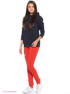 Спортивные брюки CROSS sport. Цвет: красный
