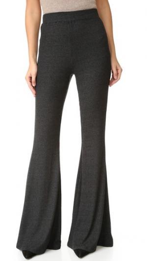 Трикотажные брюки Karson в рубчик Rachel Pally. Цвет: серый