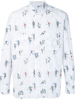 Рубашка с нагрудными карманами Riot Death To Tennis. Цвет: зелёный
