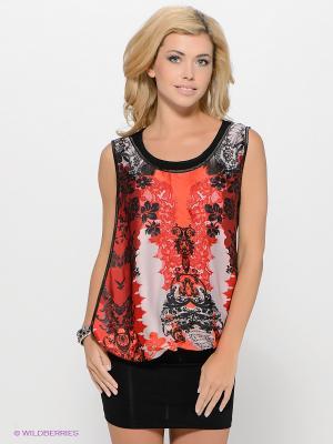 Платье MARY MEA. Цвет: черный, бледно-розовый, красный