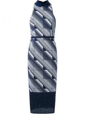 Платье Geometry Set Sheaf Manning Cartell. Цвет: чёрный