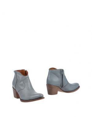 Полусапоги и высокие ботинки GUGLIELMO ROTTA. Цвет: грифельно-синий