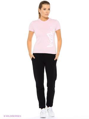 Футболка женская Runika. Цвет: розовый