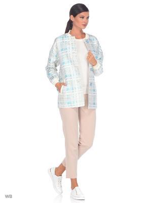 Куртка Exalta. Цвет: голубой, белый, золотистый