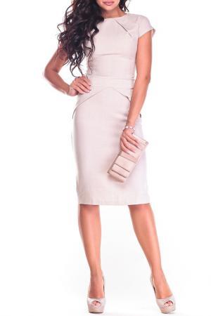 Платье REBECCA TATTI. Цвет: бежевый