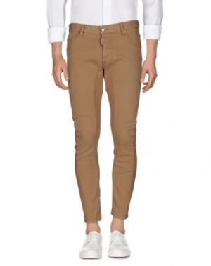 Джинсовые брюки DSQUARED2. Цвет: песочный