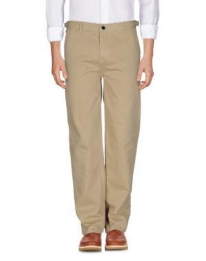Повседневные брюки WHISTLES. Цвет: бежевый