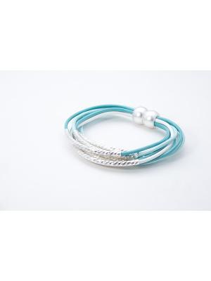 Браслет Krikos. Цвет: серебристый, белый, бирюзовый, голубой