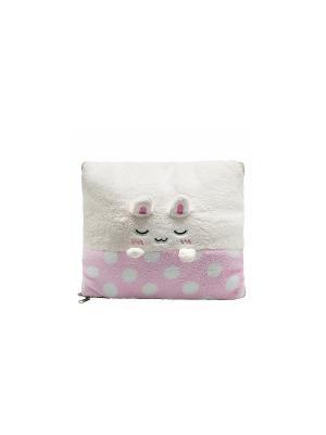 Плед-трансформер Кролик (розовый) Kawaii Factory. Цвет: розовый