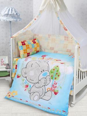 Комплект постельного белья Teddy baby Me to you. Цвет: светло-голубой