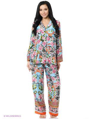 Пижама Natori. Цвет: голубой, розовый